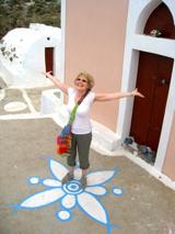 Enjoying active vacation-Greek Island Santorini