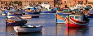 Colorful seaside village in Malta