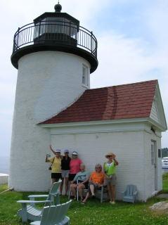 wanderwomen travel group, lighthouse in Camden Maine