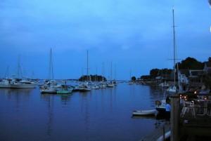 night fall at Camden Harbor, Maine