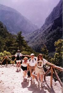 Women's group at Samaria Gorge on Crete, Greece