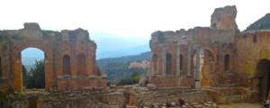 Greek Theater in Taormina, Sicily