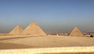 Tour the pyramids of Giza in Egypt